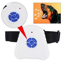 Ultrasonic Pet Dog Training Shock Control Collar Anti Bark No Stop Barking UK