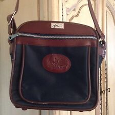 Skyway Airlines RETRO Carry Bag Blue Brown Kangaroo Logo EXCELLENT CONDITION