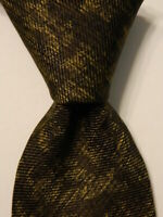 KITON Seven Fold Mens 100% Silk Necktie ITALY Luxury Geometric Green Classic EUC