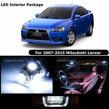 6PCS Cool White LED Interior Light Package Kit For 2007 - 2015 Mitsubishi Lancer