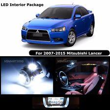 6PCS Cool White LED Interior Light Package Kit For 2010 Mitsubishi Lancer