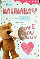 MUMMY FROM YOUR LITTLE BOY MOTHER'S DAY CARD ~ BARLEY BEAR DESIGN QUALITY CARD