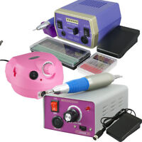 ELECTRIC NAIL FILE DRILL Kit Machine Manicure Tool Pedicure Machine Set 110V