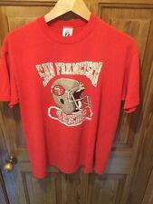Vintage San Francisco 49ers Logo 7 Red T Shirt Size XL