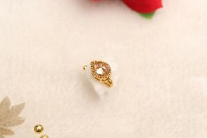Bollywood Gold Plat Clip On Nose Small Nath Crystal Nose Fashion Jewel