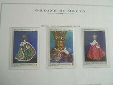 1986 MILITARY ORDER OF MALTA CHRISTMAS PRAGUE BABY JESUS  MNH # 259-61 LOT# 2