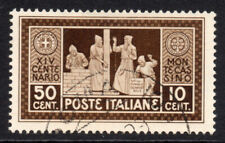 Italy 50 Cent + 10 Cent Stamp c1929 Used (5466)