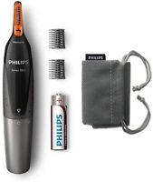 Philips NT3160/10 - Recortador de vello, nariz y orejas, resistente al agua,