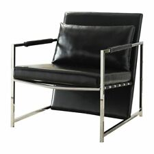 Stupendous Acme Faux Leather Accent Chairs For Sale Ebay Theyellowbook Wood Chair Design Ideas Theyellowbookinfo