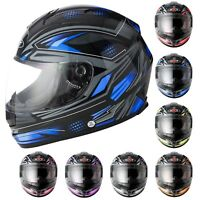 Motorbike Full Face Pinlock Helmet Crash Visor Motorcycle Scooter Riding Helmet