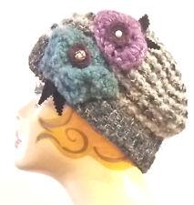 Cappello/donna/invernale/fiori/hat/basco/shabby/berretto/boho/rose