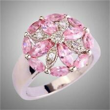 PINK SAPPHIRE (SIMULATED) RING - SIZE 8 - GIFT BOX - FREE UK P&P.....W0518