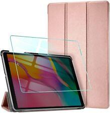 Custodia Cover per Samsung Galaxy Tab A 10.1 2019 + Vetro Temperato, Rosa