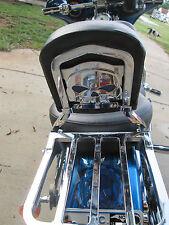Harley chrome skull backrest mounting plate for Sportster and Dyna
