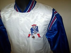 NEW ENGLAND PATRIOTS Starter Throwback Snap Down Jacket S L XL 2X WHITE