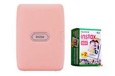 Fuji Instax Mini Link Fotodrucker dusky pink + 2 Filme für 20 Sofort Fotos, NEU