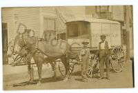 RPPC Crystal Spring Dairy Wagon ERIE PA? Oil City? Real Photo Postcard