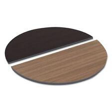 Alera Reversible Laminate Table Top, Half Round, 48w x 24d, Espresso/Walnut