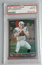 1999 Topps Chrome Peyton Manning-1 2nd Year Indianapolis Colts #120 PSA 9 Mint