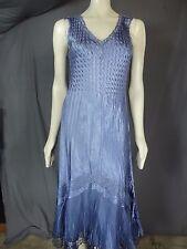 Komarov Dress Sleeveless V-Neck Paneled Midi Blue size XL