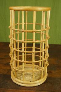 50er Vintage Umbrella Stand Bamboo Umbrella Cane Retro Stand Boho 60er