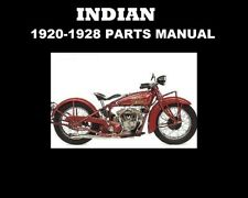 1920-1928 INDIAN SCOUT MOTORCYCLE PARTS LIST MANUAL w/ 1923 1924 1925 1926 1927