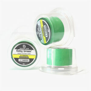 """Walker Easy Green Roll Tape 1"""" X 3 Yards Hair Systems Toupee Double Sided Tape"""