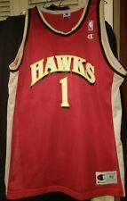 Champion Atlanta Hawks NBA jersey 48 XL Mutombo Blaylock LAETTNER AUGMON #1 Vintage