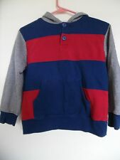 Gymboree Boys Medium 7/8 Pull-Over Gray Blue Red Hoodie