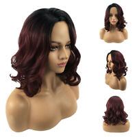 Fashion Bob Synthetic Ombre Women's Short Hair Curly Hair Full Wig Cospaly Party