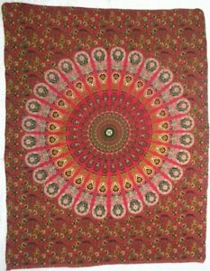 Tapestry Indian Hippie Mandala Poster Wall Hanging Yoga Mat Table Cover Peacock