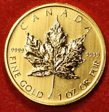 2013 CANADIAN GOLD MAPLE LEAF 1 oz .999% BU GREAT COLLECTOR COIN GIFT