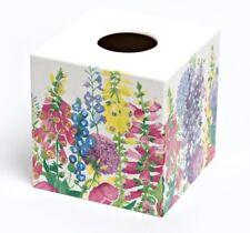 Tissue Box Cover Holder Foxglove wooden handmade decoupaged uk
