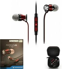 New Sennheiser M2IEi Momentum In Ear Headphones for IOS - iPhone iPod iPad - RED