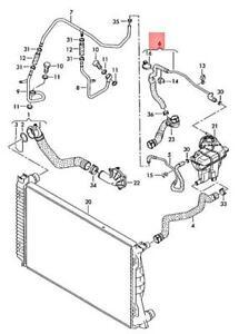 Genuine AUDI A6 allroad quattro Avant S6 4F2 4FH Coolant Hose 4F0121107S