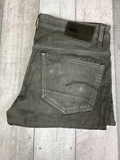 G-Star Men's 3301 Tapered Grey Denim Jeans W34 L30 E38