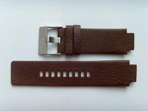 DIESEL Original Ersatzband Lederarmband DZ1090 Uhrband braun watch strap brown