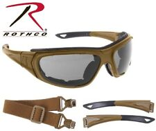 Coyote Brown Interchangeable Sunglasses to Goggles Tactical Optical System 10388