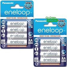 8 x Panasonic eneloop AA 1900 mAh Rechargeable Batteries ready to use NiMH, HR6