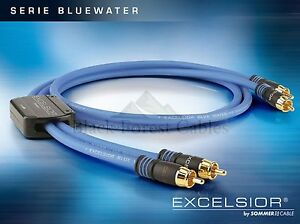Sommercable EXCELSIOR® BlueWater Highend RCA/Cinch-Kabel 2 x 0,5 m