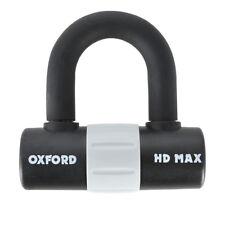 Oxford HD Max High Security Motorcycle Disk Lock Padlock 14mm Shackle - Black