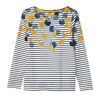 Joules Harbour Print Jersey Top (Lily Stripe)
