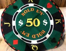 Poker Table Cover - Round Poker Tablecloth - Texas Hold Em'
