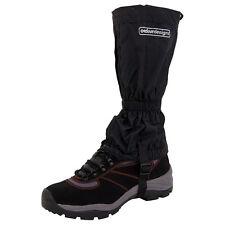 NEW Outdoor Designs Tundra Gaiters Medium Black w/Rear Zip & Webbing Boot Strap