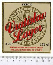 Czech Beer Label - Vratislavice Brewery - Czech Rep. - Vratislav Lager (Tesco)