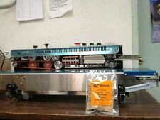 USA STOCKED FRD-1000 HORIZONTAL CONTINUOUS BAND SEALER & INK CODER MACHINE