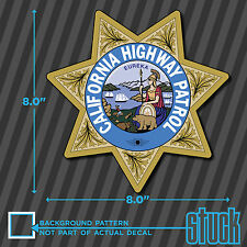 "LARGE California Highway Patrol Seal - 8.0""x8.0"" - vinyl decal sticker chips chp"