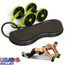 Gym Abdominal Abs Roller Waist Wheel Handle Fitness Exercise Workout Machine US
