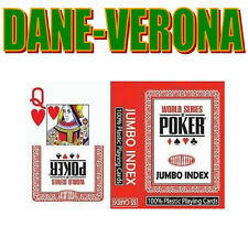 Carte originali WSOP 100% Plastica JUMBO INDEX NUOVE!!!