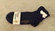"Vtg Ribbon Top ""Joya Golf"" Socks Cotton Ankle Booties 9-11 Anklet Small Pom Pom"